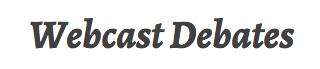 WEBCAST DEBATES title art
